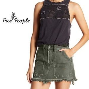 Free People Canvas Relaxed Mini Sk irt Medium 30